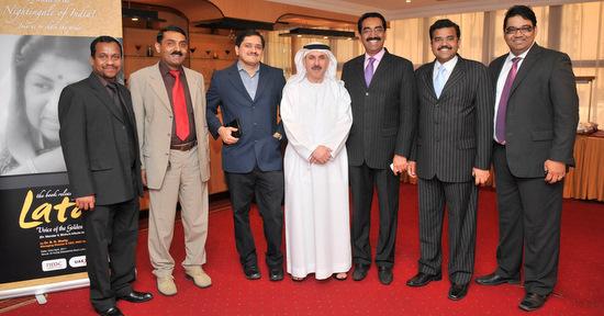 Author with the UAE Exchange team