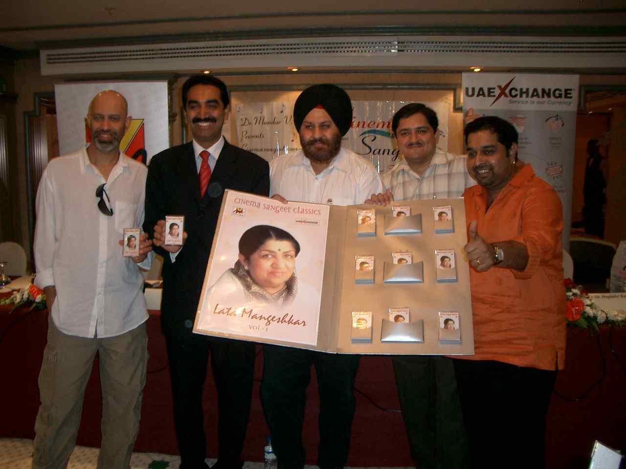 Lata Album Launch- Loy, Sudhir Kumar Shetty, Deepinder Kapany, Dr.Mandar, Shankar Mahadevan
