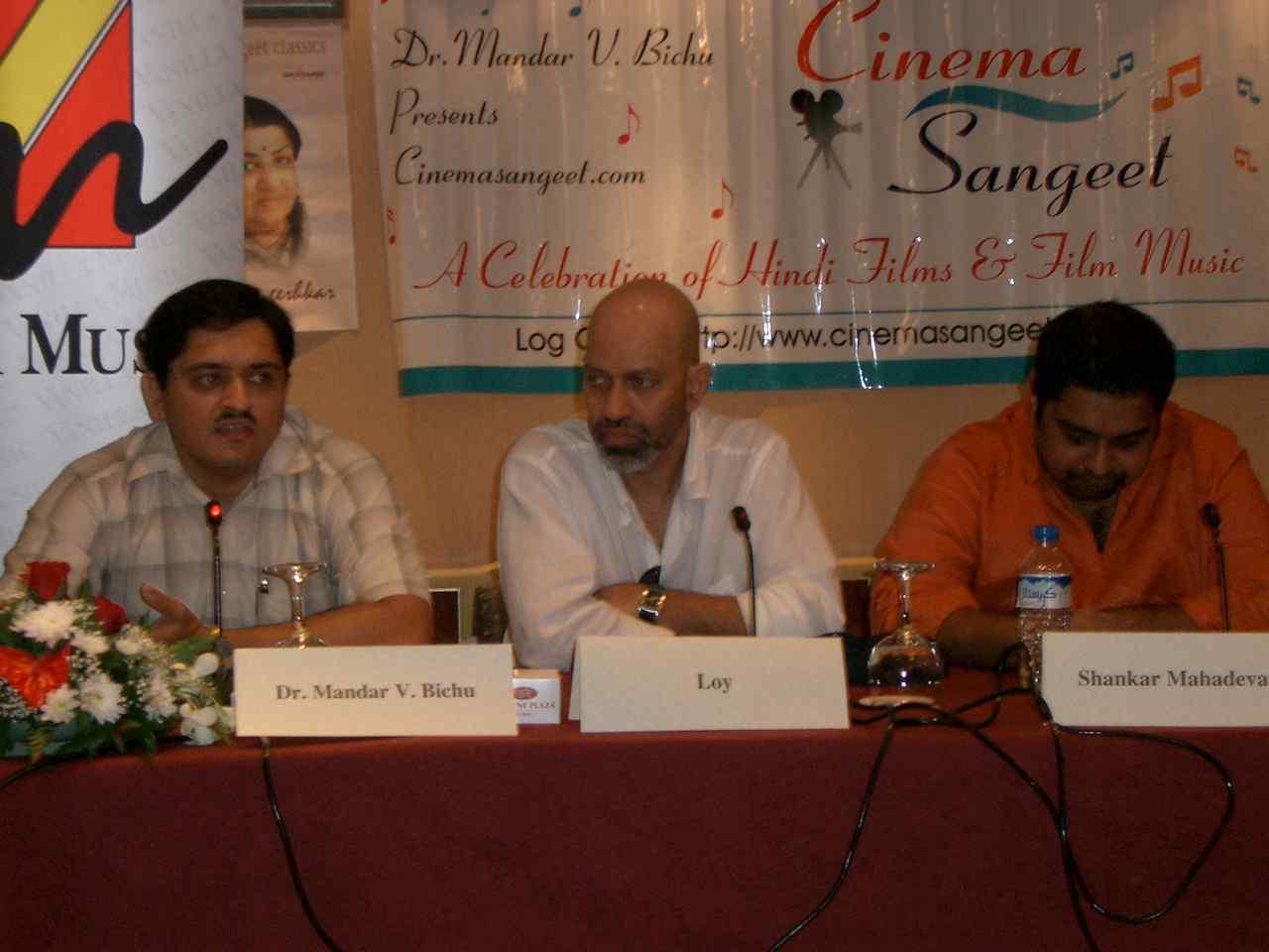Dr.Mandar, Loy Mendonsa ,Shankar Mahadevan