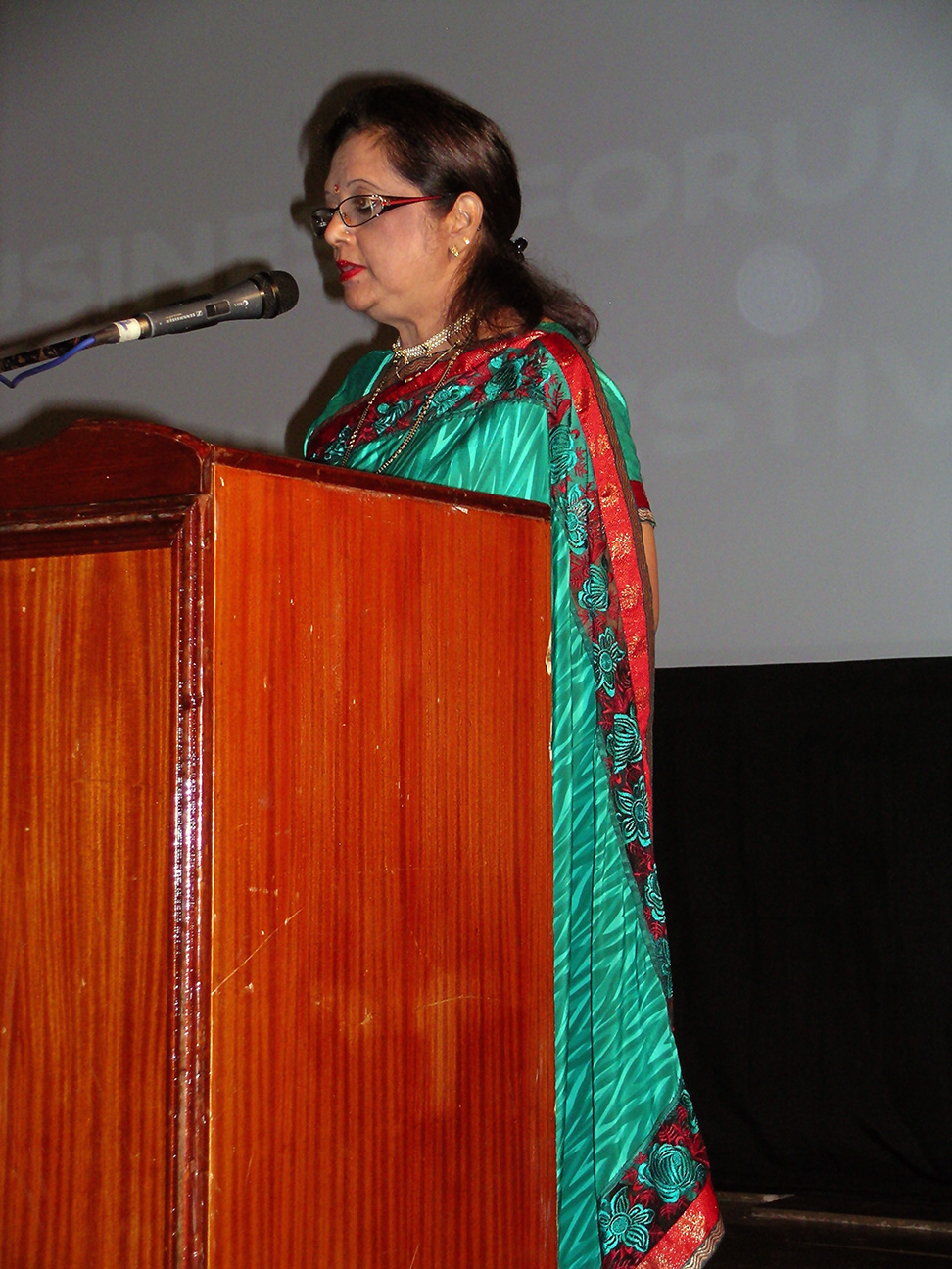 Minister Bappoo speaking at the function