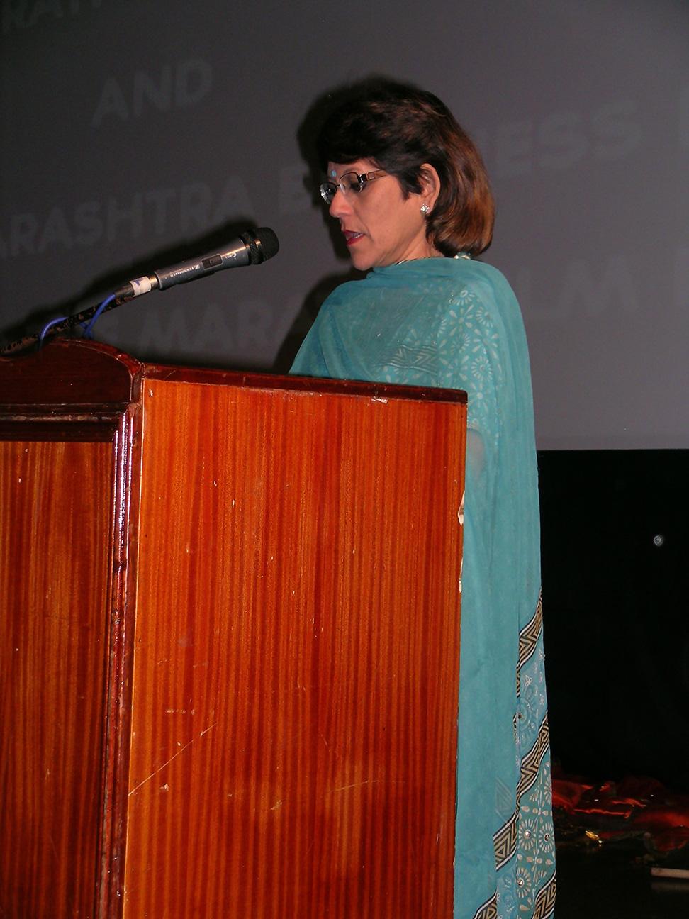 Mrs.Rameyad - Director of Mauritius Film Development Corp.